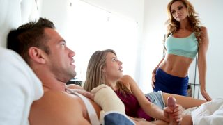 Stepsis Jillian Janson fucks with stepbro while mommy Ashley Sinclair approach