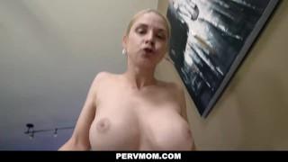 PervMom Stepson caught busty MILF stepmom Sarah Vandella