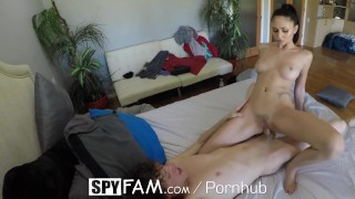 SpyFam Gorgeous stepsister Ariana Marie fucked with her bro